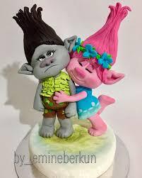trolls poppy branch caketopperr fondant fıgure food cake