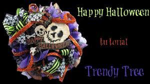 Halloween Wreath Tutorial by 2017 Happy Halloween Skull Wreath Tutorial By Trendy Tree Youtube