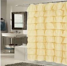 Yellow Ruffle Curtains by Amazon Com Betty Ruffled Voile Layers Shower Curtain 70 X 72