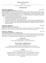 warehouse resume summary of qualifications exles for movies production coordinator resume exle