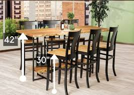Standing Bar Table Standard Height Vs Counter Height Vs Bar Height Amish Dining Tables