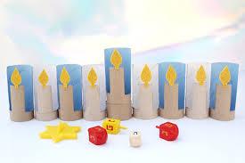 kids menorah cardboard menorahs crafts for kids pbs parents