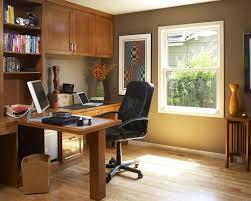 office modern minimalist home office design with wooden desk