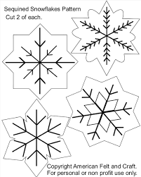 sequin decorations to make free patterns snowflakes felt