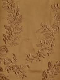 Faux Silk Embroidered Curtains Silver Embroidered Plush Vines Faux Silk Fabric Sle