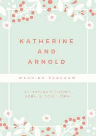 modern wedding programs wedding program templates canva