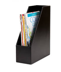 minimalist side table furniture black faux leather magazine rack design idea portable