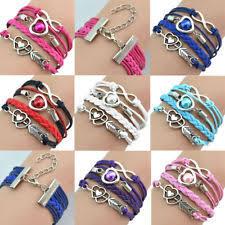 leather charm bracelet ebay images Leather infinity bracelet ebay jpg