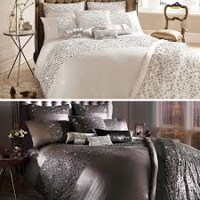 Kylie Duvet Sets Bedding Kylie Sequin Wave Duvet Cover Silver From Glasswells Ltd