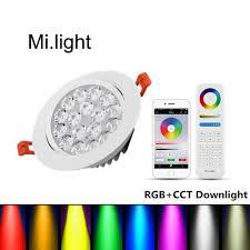 wifi led recessed lights mi light led down light ceiling spotlight rgb cct 9w dimmable wifi