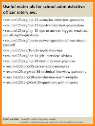 Administrative Officer Sample Resume 10 Sample Resume For Administrative Officer Azzurra Castle Grenada
