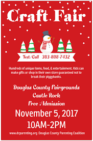 holiday craft fair visit castle rock colorado