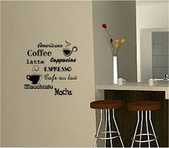 home interior framed wall arts coffee wall sticker vinyl quote kitchen cafe home