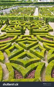 traditional garden ornamental garden chateau stock photo
