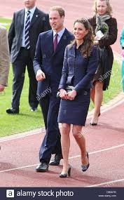 william and kate prince william and kate middleton visit witton country park stock