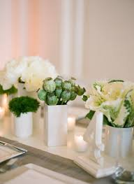 modern centerpieces modern green and white centerpiece white centerpiece