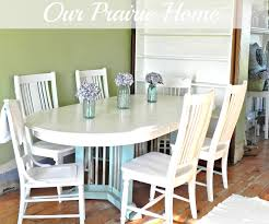 Painted Dining Table by Our Prairie Home Dining Room Table Reveal