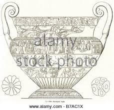 Francois Vase Victorian Engraving Of Ancient Greek Pottery Kraters Digitally
