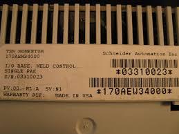 schneider square d i o base weld control 170aew34000 process