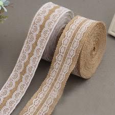 burlap and lace ribbon burlap ribbon ebay