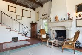 interior of old house with classic furniture living room with