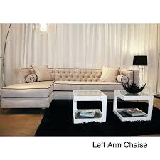 Tufted Sectional Sofa Decenni Custom Furniture U0027tobias U0027 Mystere Dove Tufted Sectional