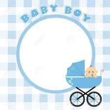 baby boy frame for text or photo royalty free cliparts vectors