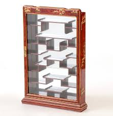 asian inspired wall mounted curio cabinet ebth