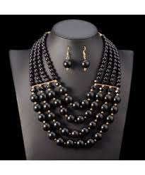 pearl necklace wedding jewellery images Nigerian wedding jewelry sets multi layer simulated pearl jewelry jpg