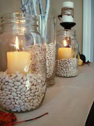 vase filler for entry way table with candles and beads beans etc