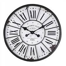 Decorative Metal Wall Clocks Distressed Wood U0026 Metal Wall Clock A Cottage In The City