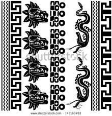 vector set ancient american ornaments on stock vector 143163493