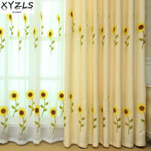 Sunflower Yellow Curtains Sunflower Curtains For Living Room Promotion Shop For Promotional