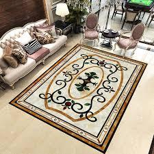 home decor carpet custom 3d floor sticker marble carpet flower pattern floor mural