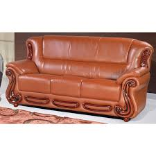 Cognac Leather Sofa by Bella Leather Sofa Multiple Colors By Meridian Furniture 632kh