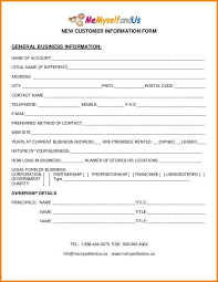 awesome customer form template pictures resume samples u0026 writing