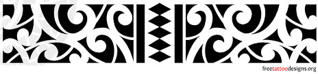 collection of 25 tribal armband design with black ink
