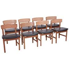 Z Dining Chairs by Set Of Eight Børge Mogensen Dining Chairs By Fredericia Denmark
