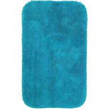 Aqua Bathroom Rugs Mainstays True Colors Bath Rug Collection Walmart