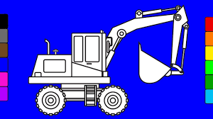 learn colors for kids with crane truck construction truck