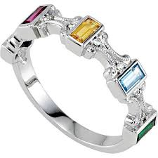 white gold mothers rings mothers day birthstone rings white gold gallery of jewelry