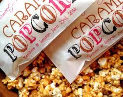 popcorn favor bags popcorn bags etsy