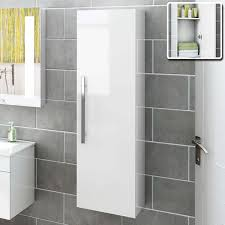 Wall Mounted Bathroom Cabinets White Gloss China Wall Mounted High - Bathroom cabinets in white gloss