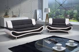 canap design noir et blanc canapé fixe design 2 places en pu noir blanc lalie canapé fixe