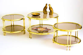 round brass coffee table u2013 mastercraft round brass coffee table