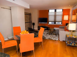 dining room living space dining room with orange dining room