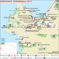 map usa place monterey peninsula map city map of monterey peninsula
