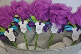 unique baby shower favor purple turquoise and lime green bath zoom
