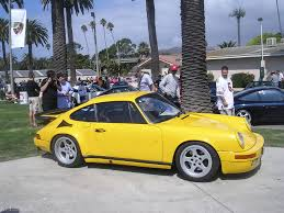 Porsche 911 Yellow Bird - ruf yellowbird at the nurburgring in 1987 in los angeles in 2005