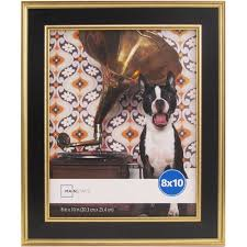 mainstays kristoff 8x10 black gold picture frame walmart com